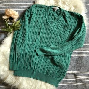 Vintage sea glass green cotton sweater